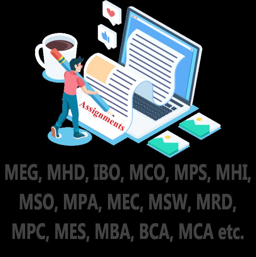 MEG, MHD, IBO, MCO, MPS, MHI, MSO, MPA, MEC, MSW, MRD, MPC etc Assignment